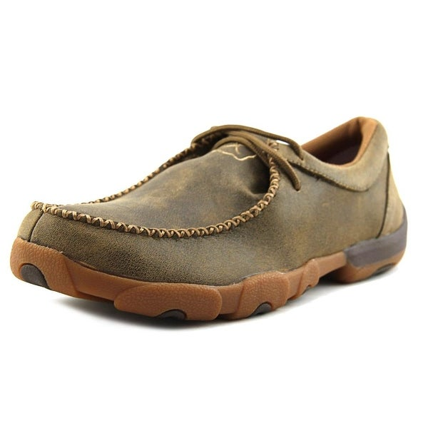 Twisted X Driving Mocs Men  Steel Toe Leather Brown Work Shoe