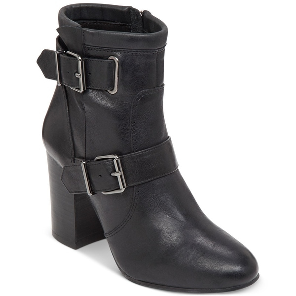 Vince Camuto Womens Simlee Leather Almond Toe Ankle Fashion Boots