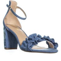 Kenneth Cole Rise Ruffle Ankle-Strap Sandals, Blue