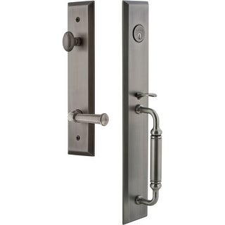 """Grandeur FAVCGRGEO_ESET_238_RH  Fifth Avenue Solid Brass Rose Right Handed Keyed Entry Single Cylinder """"C"""" Grip Handleset with"""