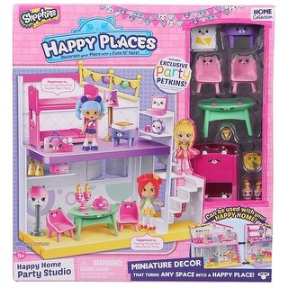 Shopkins Happy Places Happy Home Party Studio with Exclusive Party Petkins - multi