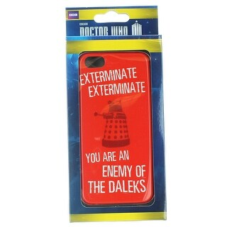 Doctor Who iPhone 5 Hard Snap Case Exterminate You Are The Enemy Of The Daleks - multi