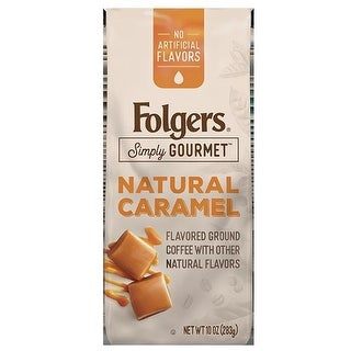 Folgers Coffee 126 Natural Caramel Flavored Ground Coffee