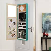 shop innerspace over the door wall hang mirrored coral jewelry armoire free shipping. Black Bedroom Furniture Sets. Home Design Ideas