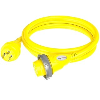 Furrion 30A 125V Marine Cordset 12ft Yellow w/LED - F30C12-SY