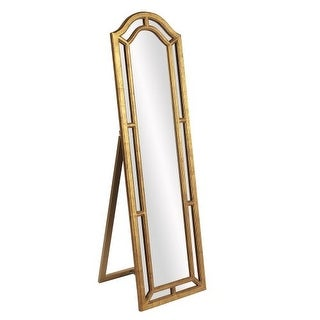 "Howard Elliott Mark Gold Leaner Mirror 66"" x 19.5"" Arched Mirror from the Mark Collection"