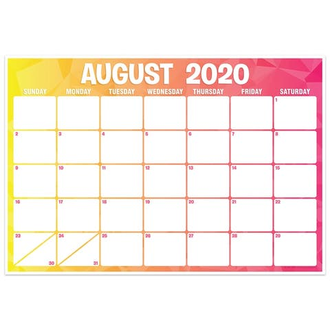 """Geo Abstract Desk Academic Calendar, August-July, 13"""" x 19"""" - One Size"""