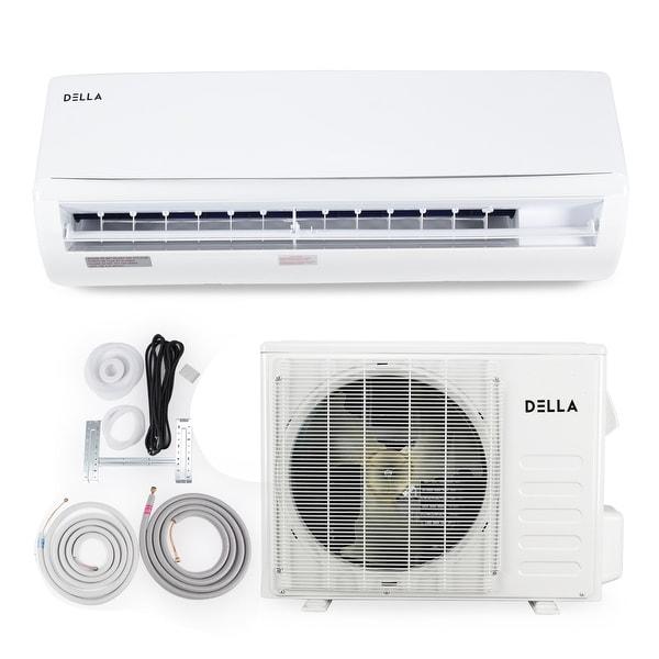 shop della 12 000 btu wall mounted heat pump inverter air rh overstock com Heat Pump Heat Air Unit Portable Air Conditioner Heat Pump
