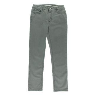 Jones New York Womens Lexington Denim Classic Rise Straight Leg Jeans