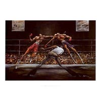 ''Stick and Move'' by Frank Morrison African American Art Print (24 x 34 in.)