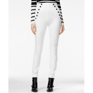Tommy Hilfiger NEW White Sailor Women's Size 6 Skinny High-Waist Pants