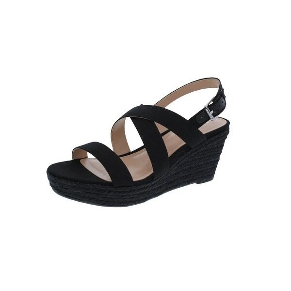 Lauren Ralph Lauren Womens Katerina Wedge Sandals Twill Open Toe