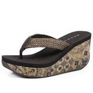 Roper Western Shoes Womens Cork 3 Inch Wedge 09-021-0607-1155 BR
