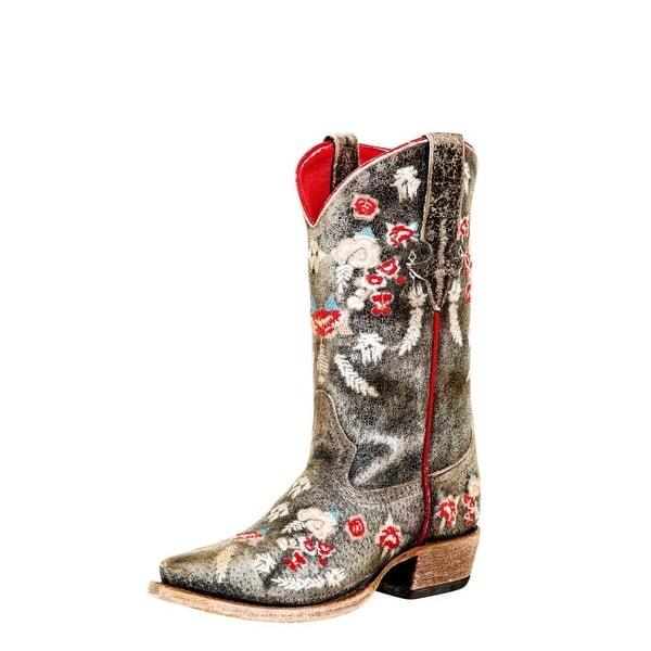 Macie Bean Western Boots Girl Cracktackular DB Toe Black