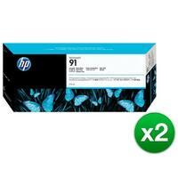 HP 91 775-ml Photo Black DesignJet Pigment Ink Cartridge (C9465A) (2-Pack)