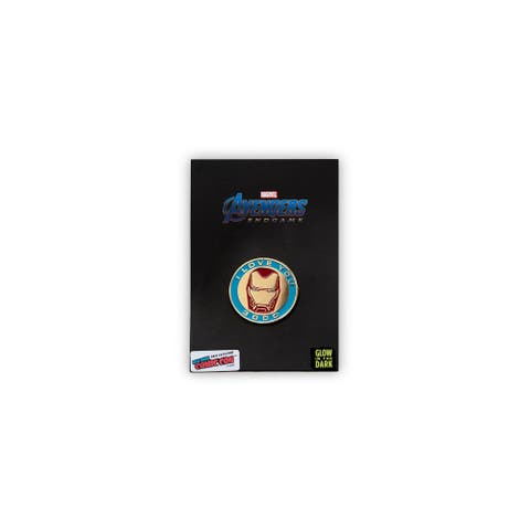 """Marvel Avengers: Endgame Iron Man Exclusive Collector Pin """"I Love You 3000"""" - Black"""