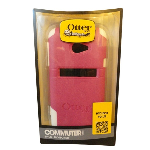 OtterBox Commuter Case for HTC EVO 4G LTE - Hot Pink/White