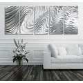 Statements2000 Extra Large 5 Panel Metal Wall Art Sculpture by Jon Allen - Hypnotic Sands 5P XL - Thumbnail 0