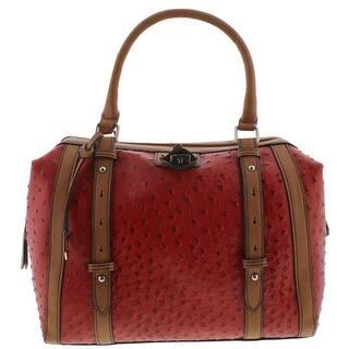 London Fog Womens Doctors Handbag Textured Leather - red ostrich - Medium|https://ak1.ostkcdn.com/images/products/is/images/direct/7a4614d1683b539232ff36f896b646b5b953ae53/London-Fog-Womens-Doctors-Handbag-Textured-Leather.jpg?impolicy=medium