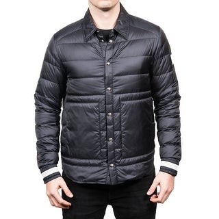 Moncler Men's Gamme Blue Padded Down Coaches Jacket Navy - M