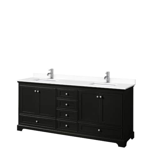 Deborah 80 Inch Double Vanity, Cultured Marble Top