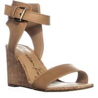 AR35 Aislinn Ankle Strap Wedge Sandals, Light Tan - 8 us