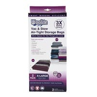 Woolite 2-Pack Vac-N-Stow Air-Tight Storage Bags, X-Large, 26.5x39.5 Inches