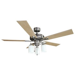 "Design House 556621 Aubrey 52"" 5 Blade Hanging Ceiling Fan - satin nickel"