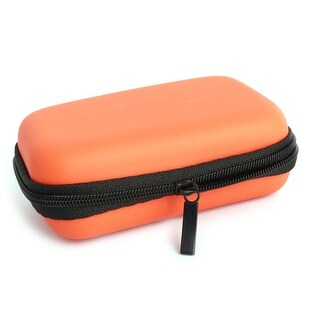 Earphone Mobile Charging Cable Rectangle Carrying Case Pouch Bag Box Orange