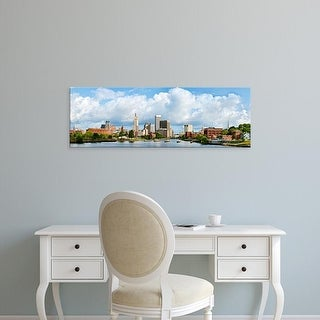 Easy Art Prints Panoramic Image 'Buildings at the waterfront, Providence River, Providence, Rhode Island' Canvas Art