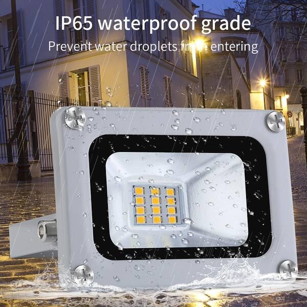 1X2X4PS 10W LED Flood Light Spot Light Floodlight Outdoor Garden Lamp Cool White