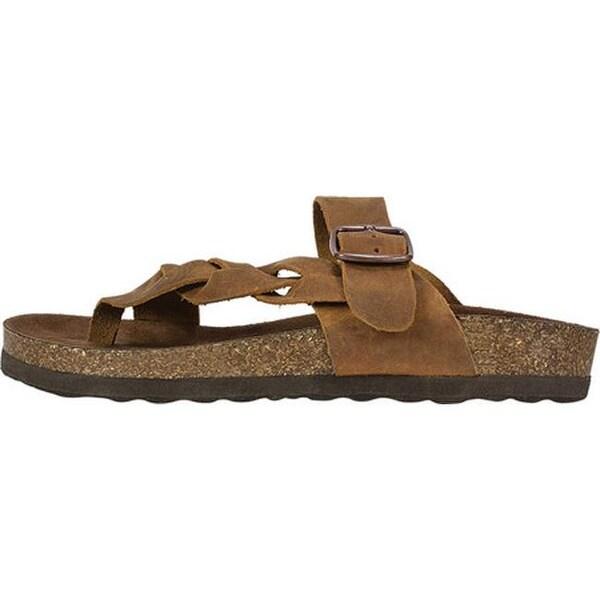 Crawford Thong Sandal Whiskey Leather