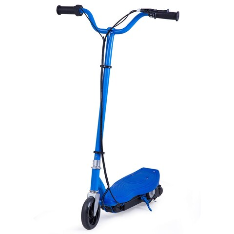 Gymax Rechargeable Electric Scooter 24 Volt Motorized Ride On Outdoor For Teens Blue