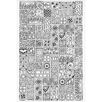 """Cubist - Zenbroidery Stamped Embroidery 10""""X16"""""""
