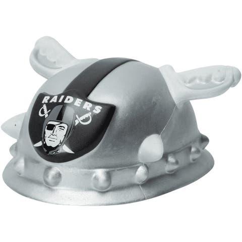 NFL Team Mascot Foamhead Hat: Oakland Raiders - Silver