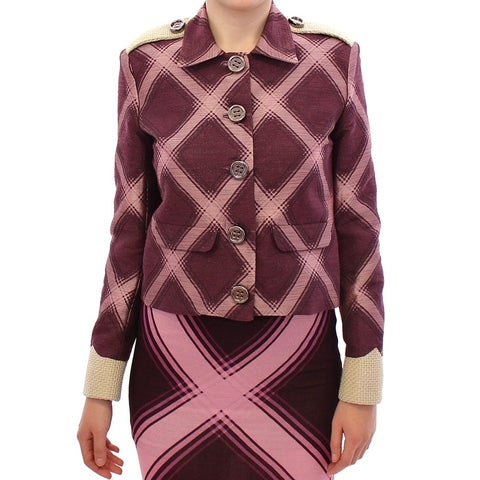 House of Holland House of Holland Purple checkered blazer jacket - S