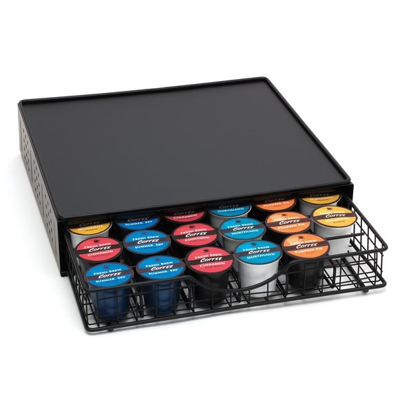 Lipper International Coffee Pod Storage Drawer With Stand Black   4.0 In. X  14.0 In