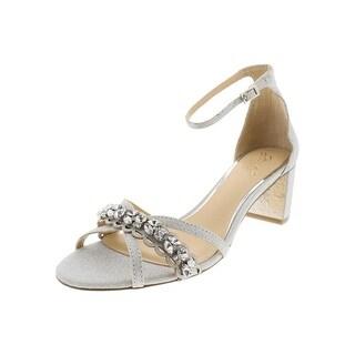4bbb2d2996 Shop Jewel Badgley Mischka Womens Giona Evening Sandals Glitter Block Heel  - 8 Medium (B,M) - Free Shipping Today - Overstock - 27623961