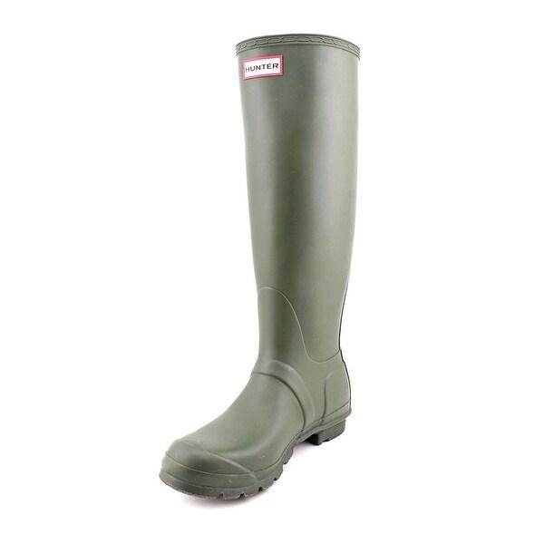Hunter Original Tall Women  Round Toe Synthetic Green Rain Boot
