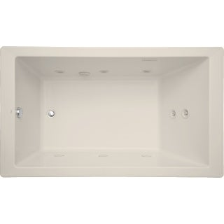 "Mirabelle MIRSKT6036  Sitka 60"" X 36"" Acrylic Total Massage Bathtub for Drop In or Undermount Installations with Reversible"
