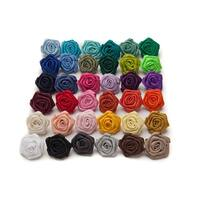 Jacob Alexander Satin Open Rose Lapel Flower Boutonniere - One size