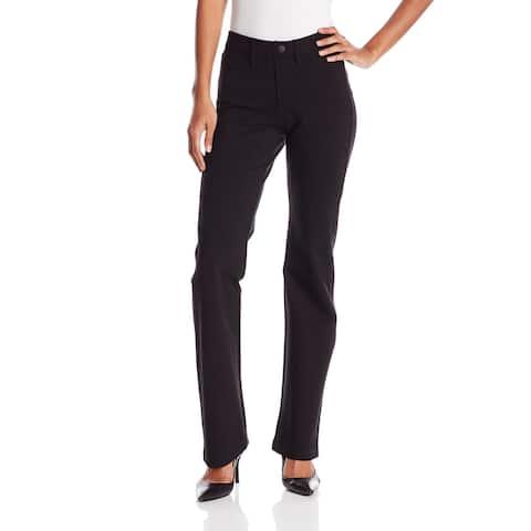 NYDJ Womens Dress Pants Deep Black Size 4 Barbara Bootcut Stretch