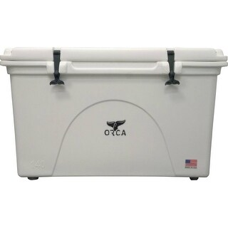 ORCA ORCW075 Roto-Molded Cooler, White, 75 Qt