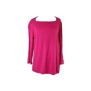 Inc International Concepts Pink Square-Neck Top S