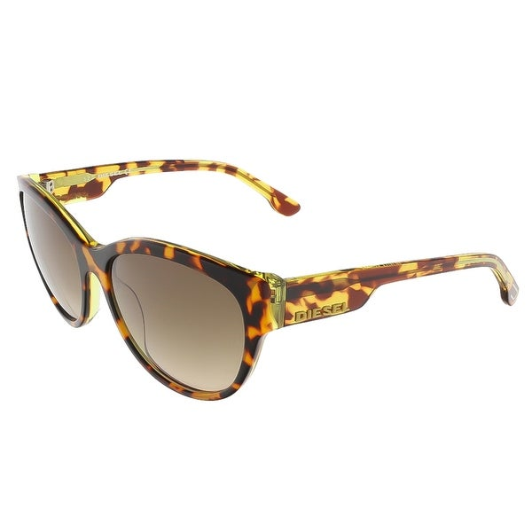 d058dbdaca Shop Diesel DL0013 S 56P Brown Tortoise Butterfly sunglasses - 57-16 ...