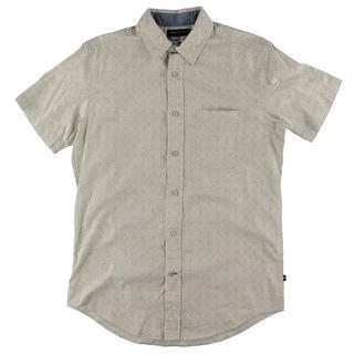 Nautica Mens Abstract Print Short Sleeves Button-Down Shirt - S