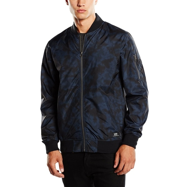 9258c5a1c6a79f Shop Vans Off the Wall Morro Mens Jacket Vn-02m3adi - black iris - Free  Shipping Today - Overstock - 14111898