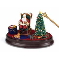 Mr. Christmas Magical Night Before Christmas Musical Table Top Decoration #79705 - black