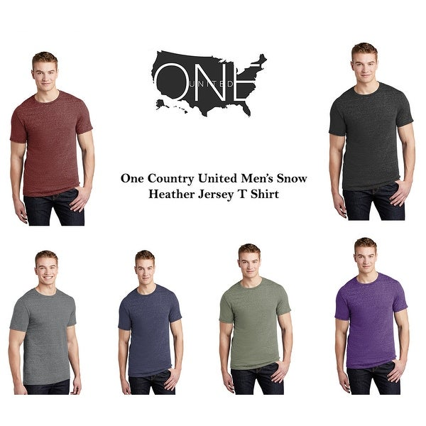 One Country United Mens Snow Heather Jersey T-Shirt