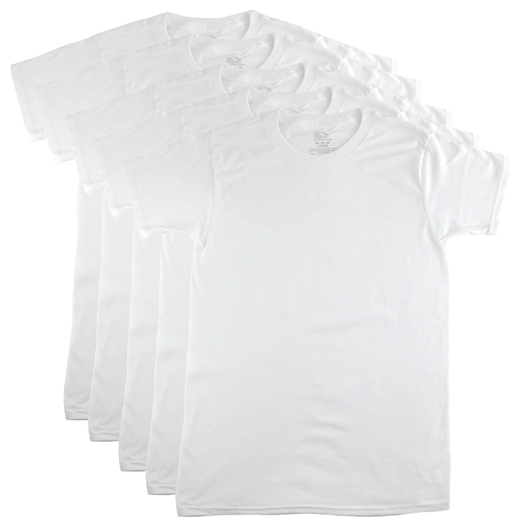 Fruit of the Loom Boys 4Pack Boys Kids Asstd Crew-Neck T-Shirts Undershirts 4P525C